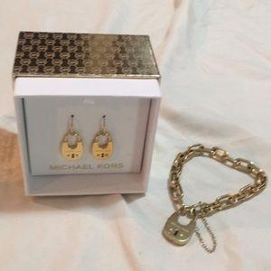 Michael Kors Earrings and Bracelet